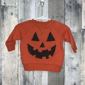 Gymboree Jack O Lantern Sweatshirt 0-3m NWT